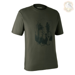 Футболка DeerHunter T-Shirt with Shield (378 Bark green)