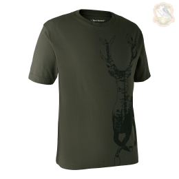 Футболка DeerHunter T-Shirt with Deer (378 Bark green)